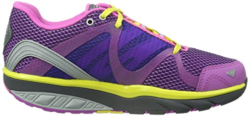 MBT Leasha Trail 6 Lace Up, Zapatillas de Deporte para Exterior para Mujer Multicolor (Bubble Gum/ Bright Rose/ Volcano Gray)
