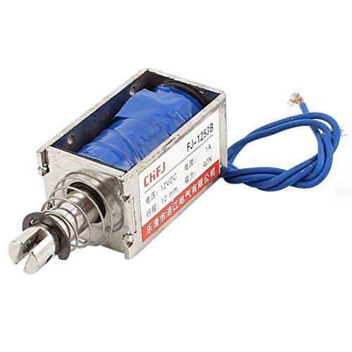 Amazon.com: eDealMax Push Pull Tipo de bricolaje DC electroimán imán solenoide 10 mm 40N DC 12V 1A: Home & Kitchen