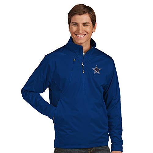 Antigua Pullover - Dallas Cowboys NFL Mens Antigua Discover 1/4 Zip Pullover, Navy, 2XL