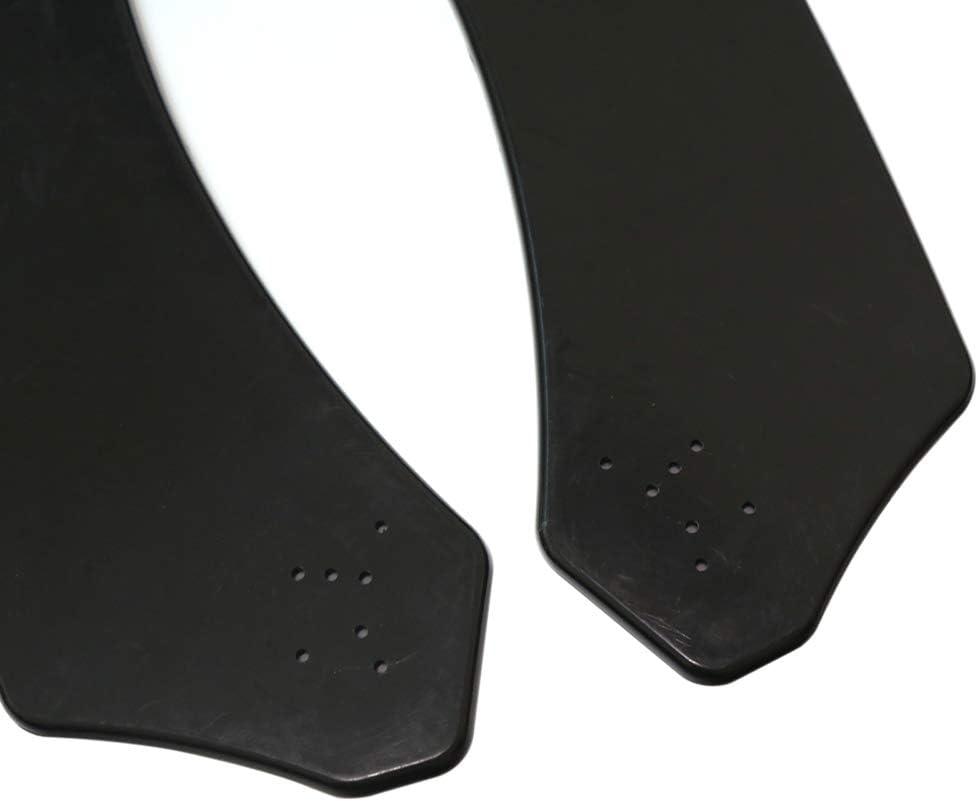 Negro Universal 3 Piezas Kit de Carrocer/ía de parachoques labio delantero para Honda para Civic Tickas Spoiler de Carrocer/ía