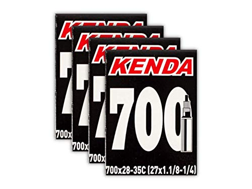 - Kenda Road Bicycle Tubes 700 x 28/35 (27x1-1/8, 1-1/4) - 32mm Presta Valve - 4 Pack
