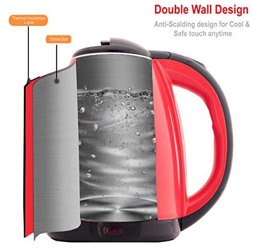 La'Forte Electric Kettle (EKLF001R) 1.8 Ltr Double Wall 100% Food Grade 304 Stainless Steel Kettle…