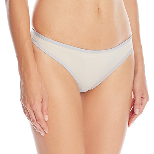Only Hearts Women's Whisper Thong Panty, Silver, Large