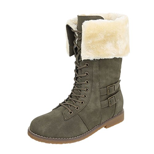 Ital-Design Women's Classic Boot Olive tF71bQkHX
