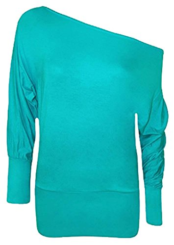 21FASHION - Camiseta de manga larga - para mujer turquesa