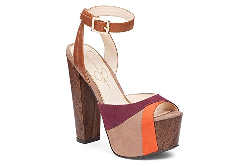 Jessica Simpson Women's Dimaya Platform Dress Sandal Totally Taupe Shoe (5.5)