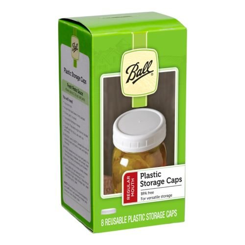 Ball Regular Mouth Jar Storage Caps Set of 8 ()