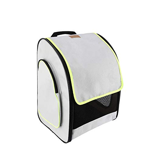 Akinerri Pet Carrier Rolling Backpack/Rolling Pet Travel Carrier, Soft-Sided Pet Travel Carrier with Removable Wheels for Small Medium Dogs/Cats (Backpack)