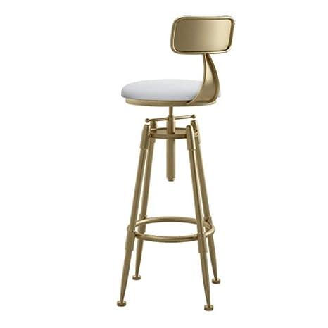 Admirable Amazon Com Wushiyu Adjustable Bar Stools With Back Leather Inzonedesignstudio Interior Chair Design Inzonedesignstudiocom