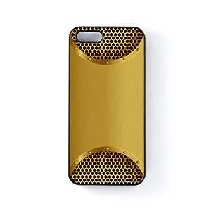 Gold Mesh Carcasa Protectora Snap-On en Plastico Negro para Apple® iPhone 5 / 5s de Sirius B + Se incluye un protector de pantalla transparente GRATIS