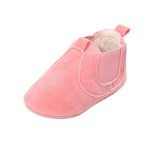Rosa Mädchen Soft Stiefel Baby Jungen Plüsch warme Clode® Sole Anti Rutsch Kleinkind CqwFPx6R