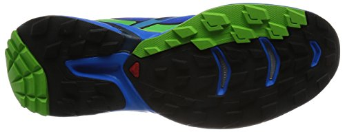 Salomon Mens Wings Pro 2 Trail Runner Blu Brillante / Nero / Tonico Verde
