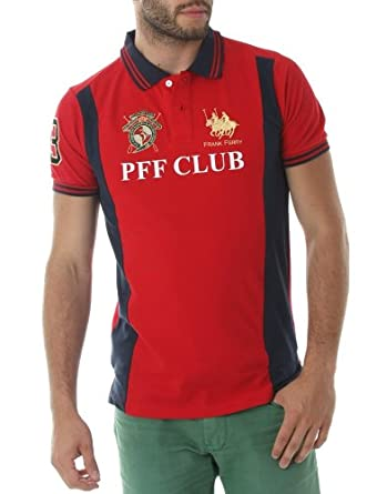 Polo FRANK FERRY Homme ff_56 rouge - -: Amazon.es: Ropa y accesorios