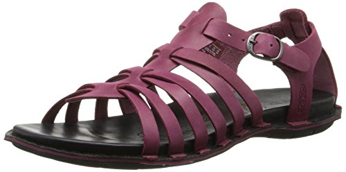 KEEN Women's Alman Gladiator Sandal, Beet Red, 9 M US - Keen Sandal Alman