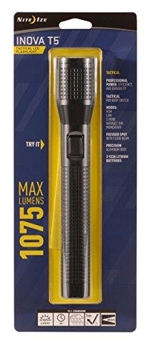Nite Ize INOVA T5 Tactical LED Flashlight, 1075 Lumen Shockp
