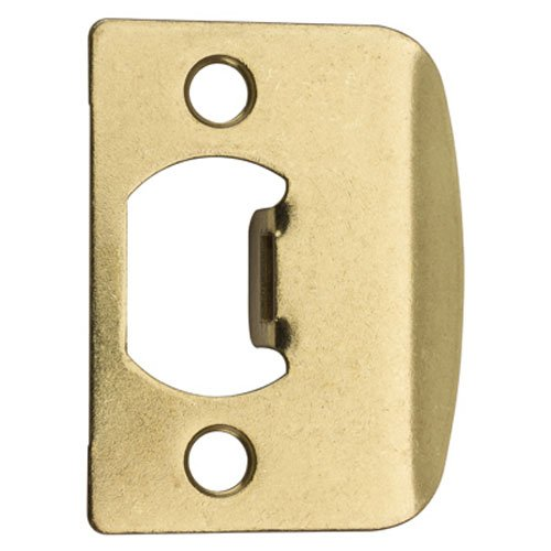 Full Plate Entry (Kwikset 3437-01 3 CP, STRK, SQ CNR FULL LIP Square Corner Strike Plate, Polished Brass)