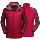 CAMEL CROWN Men's Ski Jacket 3 in 1 Waterproof Winter Jacket Snow Jacket