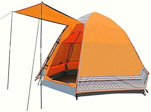 KGLOPYE Carpa 4-6 Personas 240 * 240 * 130 cm Impermeable 4 Estaciones Tienda de campaña Tienda de Playa de Pesca, Naranja: Amazon.es: Deportes y aire libre