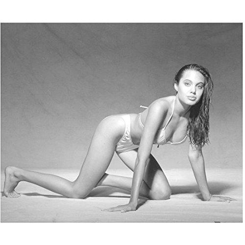 Angelina Jolie 8x10 Photo Young Bikini Black & White jaa