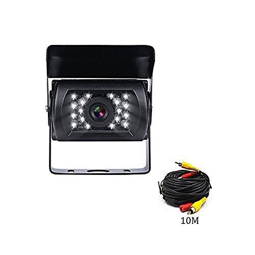 Backup Camera with 18 LED IR Night Vision Waterproof 33 ft Length 9V-24V Rear View Camera for Truck/Car/Bus/RV/Van/Caravan/Trailers -