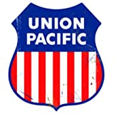 Union Pacific Logo Herald Sign Tin Vintage Style Railroad Herald Signs
