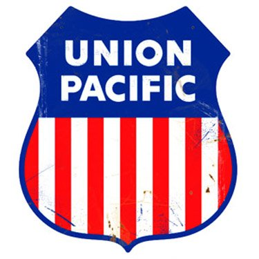 (Union Pacific Logo Herald Sign Tin Vintage Style Railroad Herald Signs)
