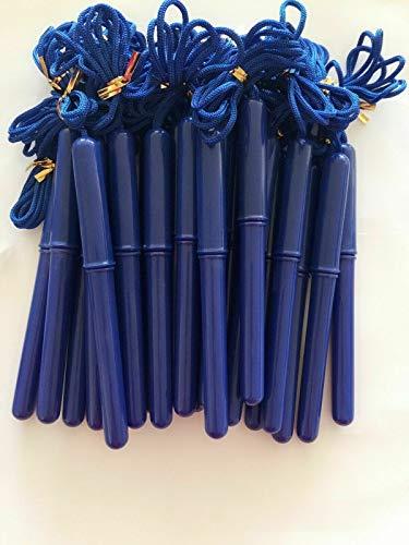 Wholesale Pack of 12 Blue Barrel Rope on Pen, 1.0mm Tip, Ink: Black,