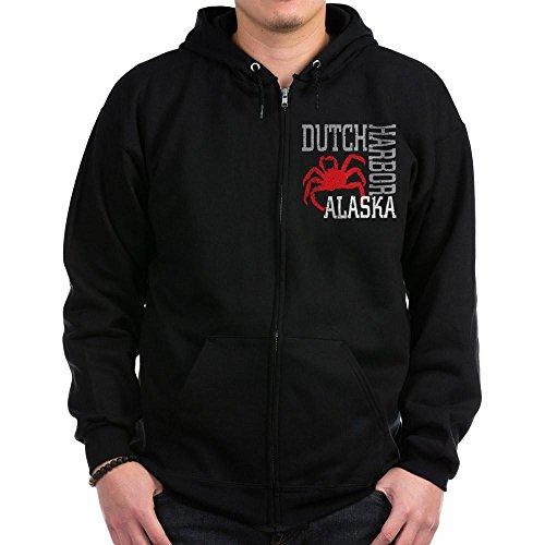 Harbor Dutch Sweatshirt (CafePress - Dutch Harbor, Alaska Zip Hoodie (dark) - Zip Hoodie, Classic Hooded Sweatshirt with Metal Zipper)