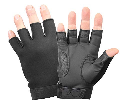 Rothco Fingerless Neoprene Duty Gloves, Black, X-Large