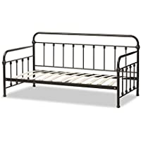 Baxton Studio Eloina Antique Metal Daybed, Full, Dark Bronze