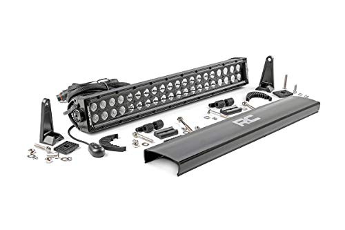 """Rough Country 70920BL - 20"""" Black Series Dual Row CREE LED Light Bar (fits) Anywhere You Can Mount It"""