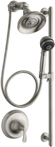 KOHLER K-10827-4-BN Forte Essentials Performance Showering Package, Vibrant Brushed Nickel