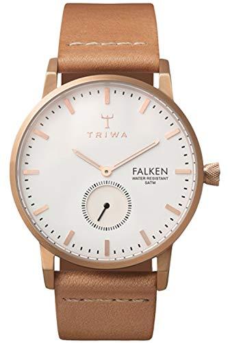 Triwa falken Unisex Analog Japanese Quartz Watch with Leather Bracelet FAST101CL