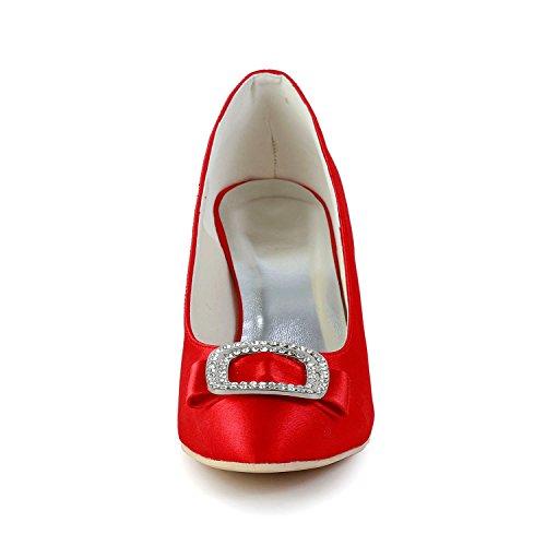 Heel 35 red Rosso Col Donna Minitoo 7 Tacco 5cm Scarpe Eu nR8AzqZ7