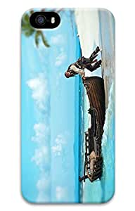 iPhone 5 Case, iPhone 5S Cases - Protective Slim Fit 3D Hard Cover Case for iPhone 5/5s Captain Jack Sparrow Ultra Thin Fit Hard Back Case Bumper for iPhone 5/5S