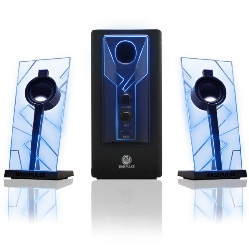 GOgroove-BassPULSE-21-Computer-Speakers-with-Blue-LED-Glow-Lights-and-Powered-Subwoofer---Gaming-Speaker-System-for-Music-on-Desktop-Laptop-PC-with-40-Watts-Heavy-Bass