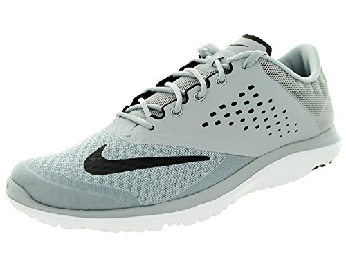 NIKE Men's FS Lite Run 2 Athletic Shoe, wolf grey/black white, 9 D US
