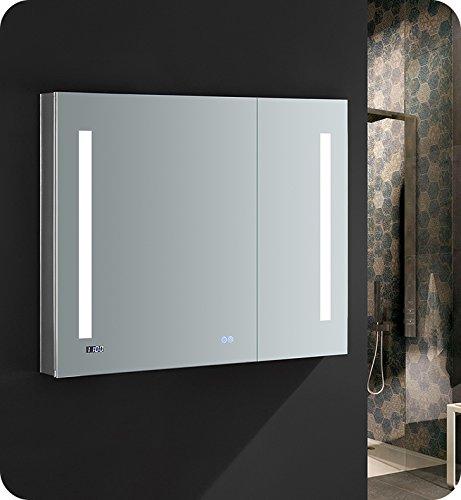 Fresca Tiempo 36 inch Wide x 30 inch Tall Bathroom Medicine Cabinet -