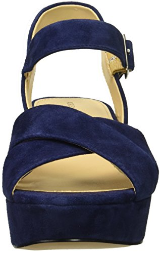 ADRIENNE VITTADINI Footwear Womens Powel Heeled Sandal Blue