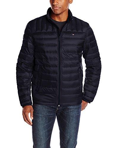 Tommy Hilfiger Men's Packable Down Jacket, Midnight, - Tommy Service Customer Hilfiger