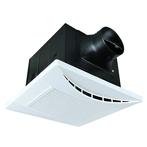 Akicon 110 CFM 1.0 Sone Ceiling Mounted Energy Star Rated and HVI Certified Bathroom Exhaust Fans Ultra Quiet Ventilation Fans Crescent110