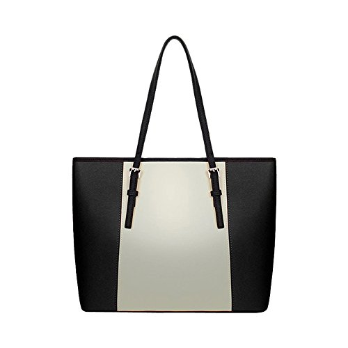 ZENTEII Faux PU Synthetische Frauen Leder Handtasche Umhängetasche Black uX6HBHExyQ