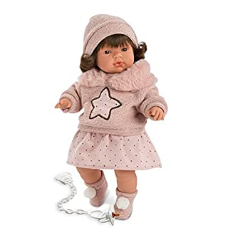 "Llorens LL38550 15"" Baby Made in Spain Vivvie (Girl) Crying Doll, Multicolor"