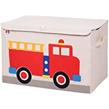 Olive Kids Fire Truck Toy Chest, One Size