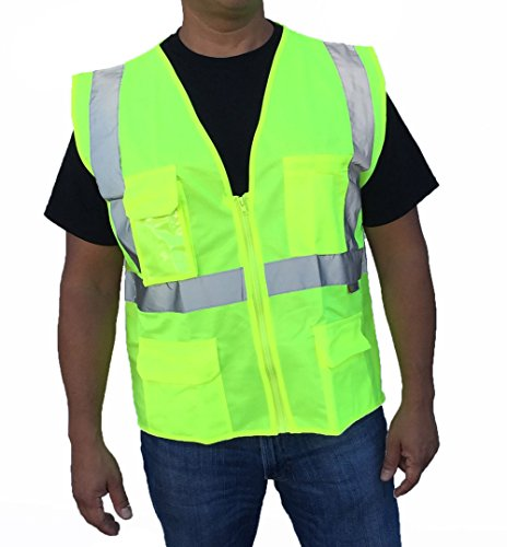 Neon Green Safety Vest - 2