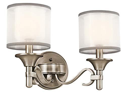 - Kichler 45282AP Lacey Bath 2-Light, Antique Pewter