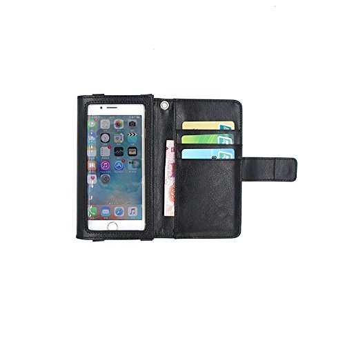 Schutz Hülle Case für Apple iPhone 6s mit Displayschutz / Schutzfolie, schwarz, Flip Cover Wallet case Etui Hülle (Wir zahlen Steuern in Deutschland!)