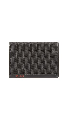 Tumi Alpha Gusseted Card Case with ID,Black,one size by Tumi