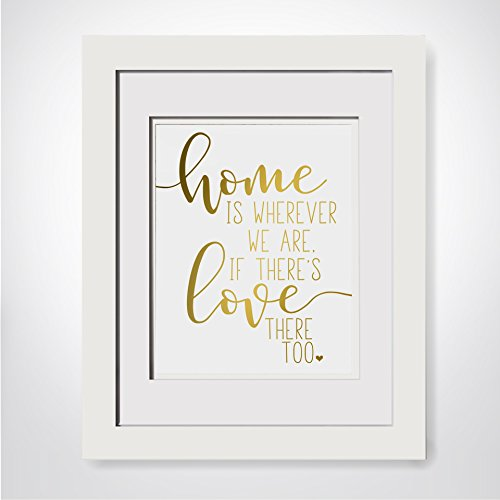 Home Is Wherever We Are Realtor Closing Gift New Home Gift New