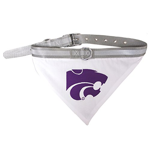 Pets First Collegiate Pet Accessories, Collar Bandana, Kansas State Wildcats, Large